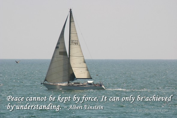 Peace cannot be kept by force. It can only be achieved by understanding. ~ Albert Einstein