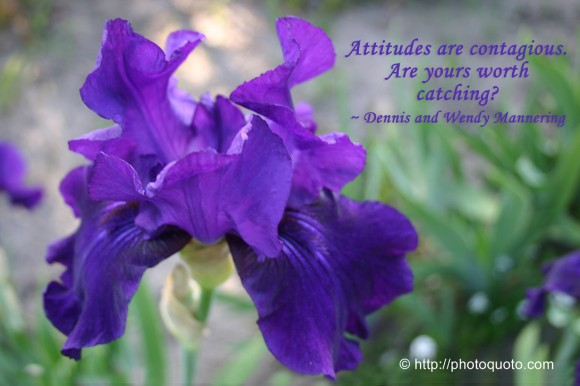 Attitudes are contagious.  Are yours worth catching? ~ Dennis and Wendy Mannering