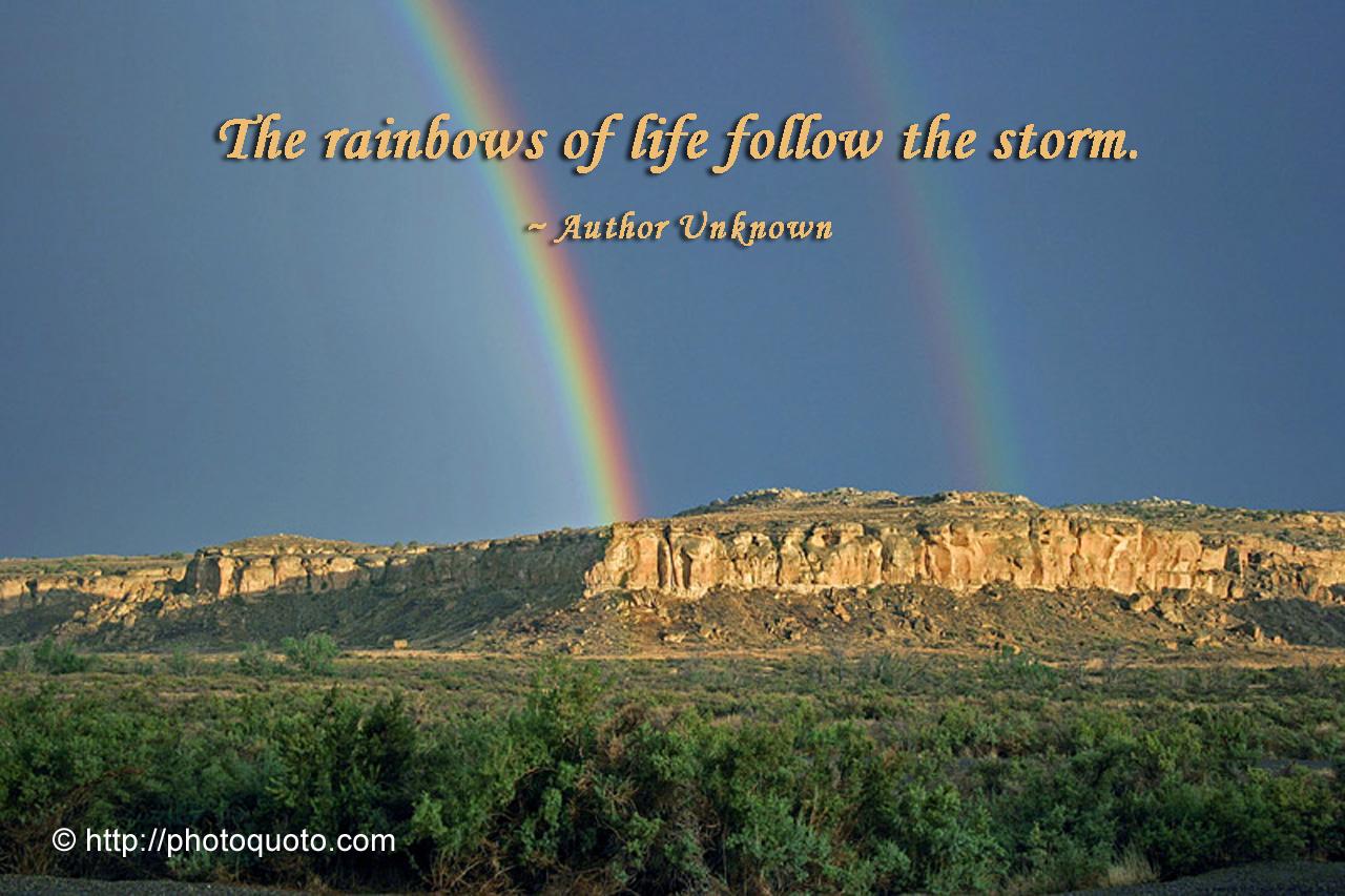 rainbow photo quoto