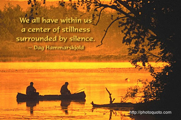 We all have within us a center of stillness surrounded by silence. ~ Dag Hammarskjold